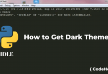 How to Get Dark Theme in Python IDLE
