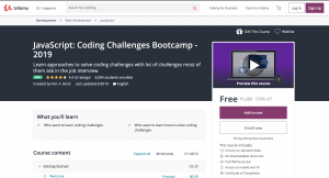 JavaScript Coding challenge free udemy course