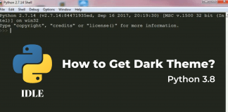 How to Get Dark Theme in Python IDLE[3.8]