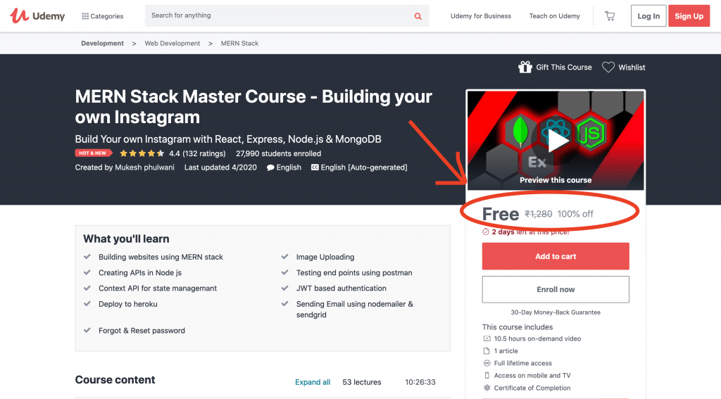 MERN Stack Master Course