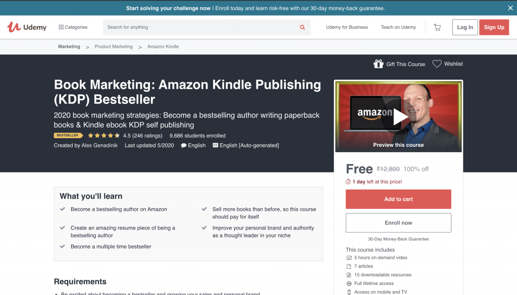 Book Marketing: Amazon Kindle Publishing (KDP) Bestseller